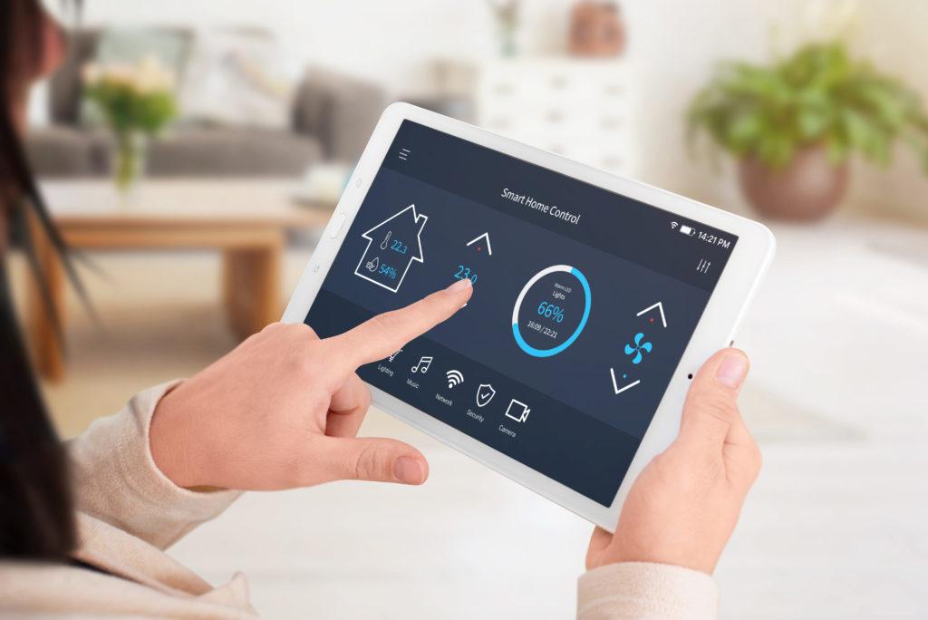 Smart Home Steuerung mit Tablet